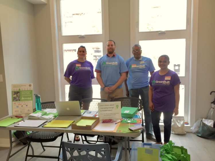 Volunteers for USGBC Green Built Home Tour
