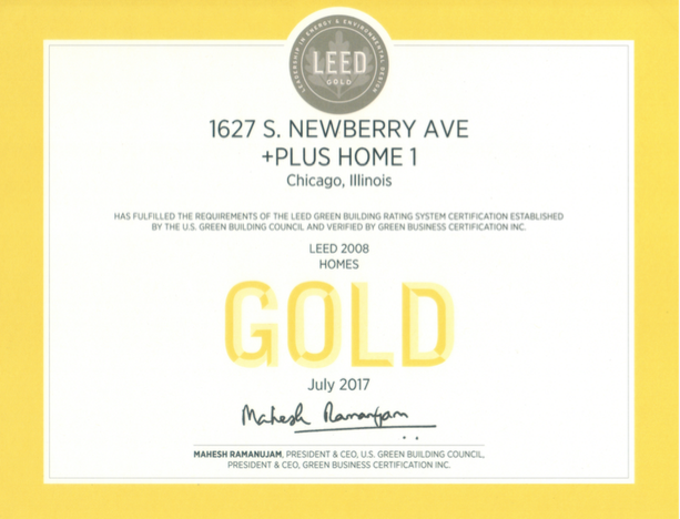 LEED gold plus house