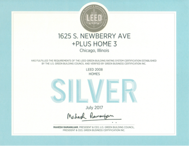 LEED silver for homes